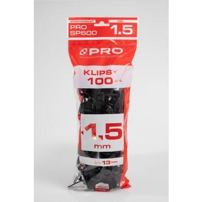 System poziomujący PRO-SP600 1,5mm klipsy 100 szt worek