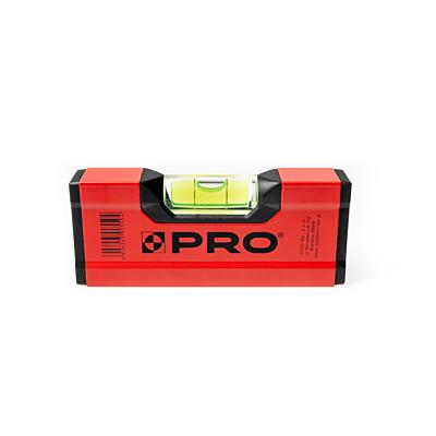 Poziomnica mini PRO600 malowana czerwona 12 cm